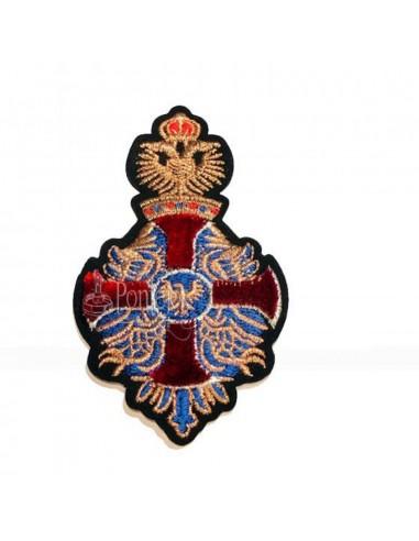 Aplicación bordado escudo cruz