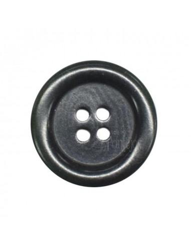 Botón caballero corozo 4 agujeros