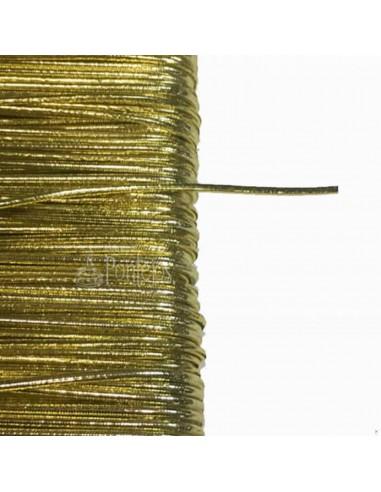 Cordón de goma metalizado