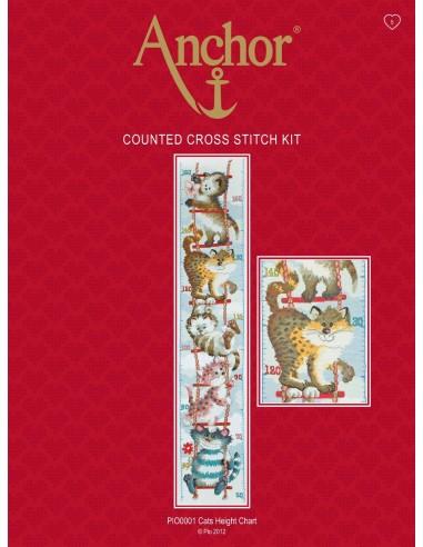 Kit punto de cruz cats height chart