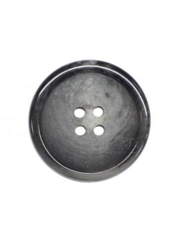 Botón caballero vetas 4 agujeros