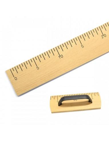 Regla de madera con mango 100cm